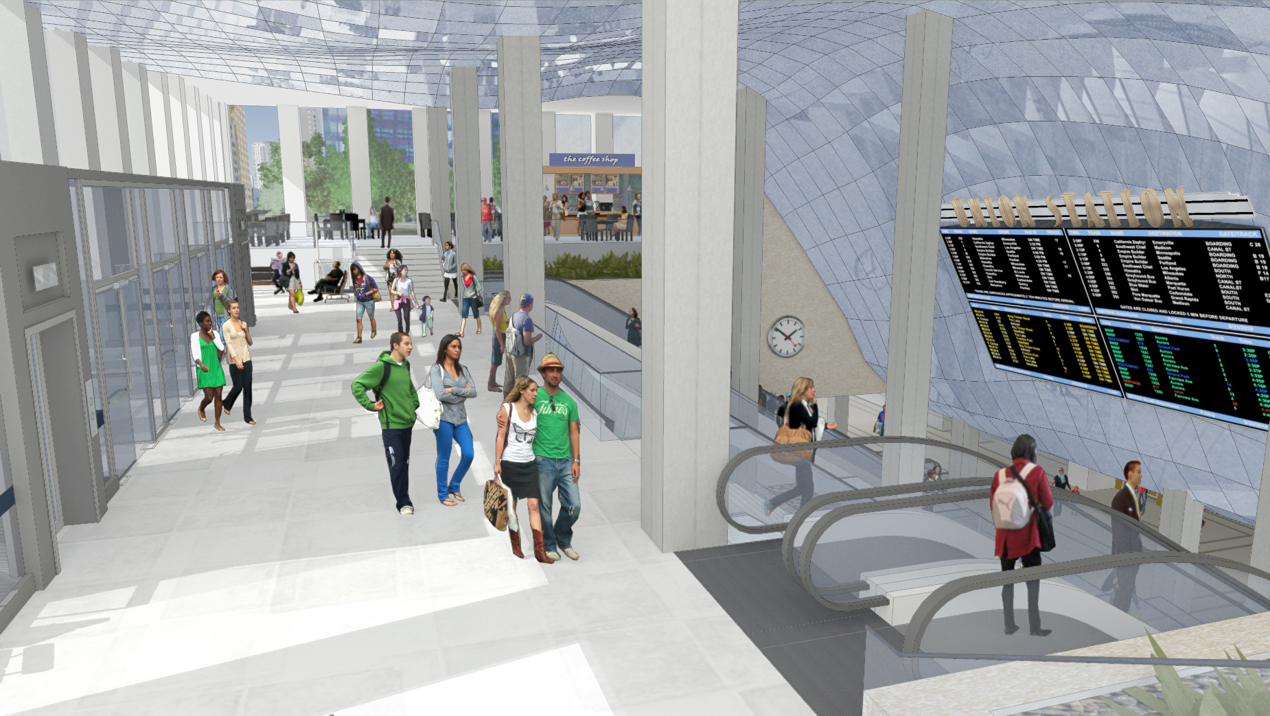 Rendering of proposed Canal Street lobby. Image courtesy of CDOT.