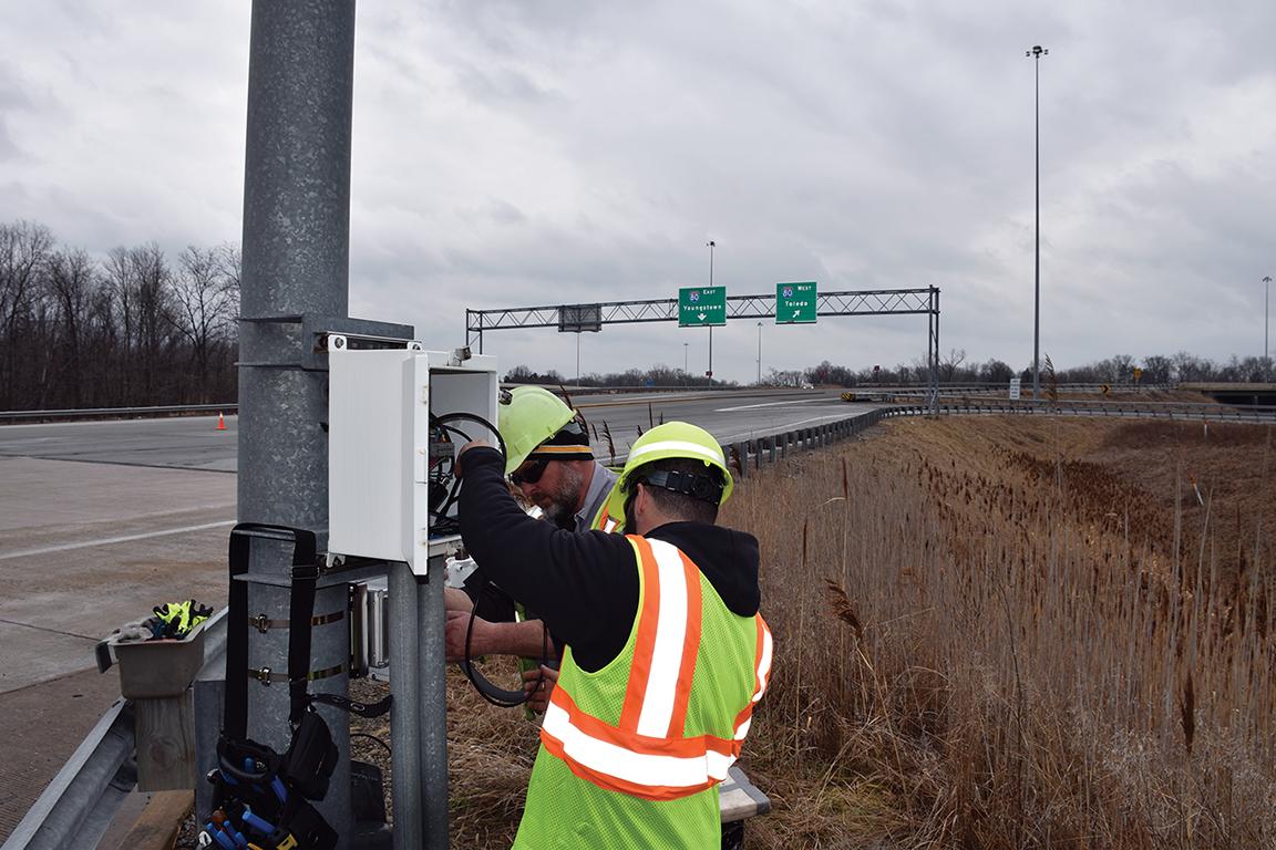 DSRC installation on the Ohio Turnpike.